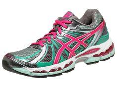 Womens Asics Gel-Nimbus 15 Titanium/Hot Pink/Mint Running T3B5N.9735 Size 7
