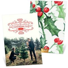 Double the thickness means double the awesomeness! This card is super fancy with it's traditional design double thick paper. #holiday #christmasCards #PremiumCards