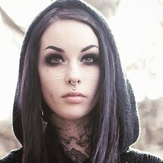 Dimple Piercing, Facial Piercings, Piercing Tattoo, Goth Beauty, Beauty Art, Hair Beauty, Dope Fashion, Gothic Fashion, Alternative Girls
