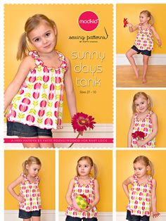 FREE sunny days tank shirt top pattern