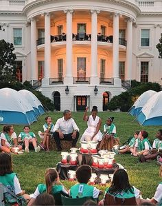 Good times at the WH with the Obamas - It will be a long, long time before we see any President and First Lady as gracious, giving and welcoming as them.  (I would never ever let a daughter near Trump.  Not that a camp out at the WH would ever happen with him.). How great are the Obamas!