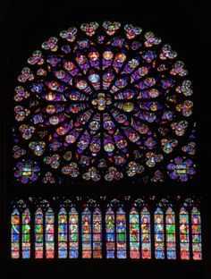 [Notre Dame Cathedral, Paris, France] beautiful stained glass :)