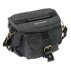 Evecase Medium DSLR Camera Canvas Shoulder Bag for Canon EOS T6i, T6s, T5i, T5, T4i, T3, T3i, SL1, 7D, 6D, 70D, 60D - Black(Water Resistant) - http://handbags.kindle-free-books.com/evecase-medium-dslr-camera-canvas-shoulder-bag-for-canon-eos-t6i-t6s-t5i-t5-t4i-t3-t3i-sl1-7d-6d-70d-60d-blackwater-resistant/