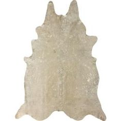 Hand-picked Brazilian White Devour Cowhide Rug  (5' x 7')