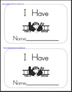 "Fire Prevention Theme Mini-Book (using sight word, ""have"")"