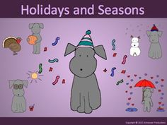 """Join Pepper for a summary of holidays in her booklet, PowerPoint, work sheets, and """"Go Fish/Memory"""" game cards.  Use as a stand alone Anytime You Need A Relaxing But Productive Activity, such as for a substitute teacher or at the end of the year, or as a summary or introduction to Pepper's other products on individual holidays throughout the year."""