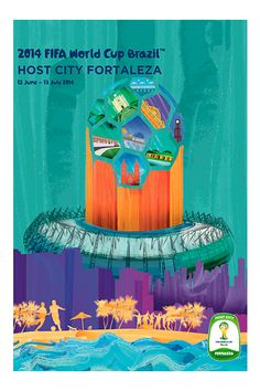 This is the official poster for Fortaleza, one of the host cities of the 2014 FIFA World Cup Brazil™.&ltbr>&ltbr&gtThis poster design features Fortaleza's huge s. Barcelona Soccer, Fc Barcelona, World Cup 2014, Fifa World Cup, Wold Cup, Cristiano Ronaldo Lionel Messi, Neymar, World Cup Games, Soccer Girl Problems