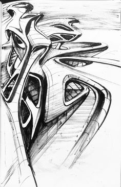 Architectural sketches ideas on Behance The Effective Pictures We Offer You About Architecture Drawi Biomimicry Architecture, Zaha Hadid Architecture, Organic Architecture, Architecture Drawings, Concept Architecture, Futuristic Architecture, Amazing Architecture, Architecture Design, Zaha Hadid Design