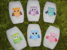 Owls. Lots of owls. Joyful soaps with glitter.