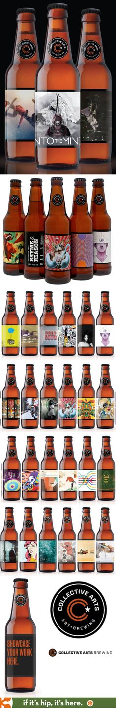 Collective Arts Brewing features artist submissions on their labels. PD