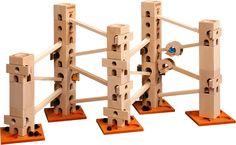 In diesem Kugelbahn-Baukasten sind alle Bauteile und Klangplatten (56 Teile) drin, um die Melodienbahn - Frère Jacques - aufzubauen und abzuspielen. Es gibt auch ein Komplett-Set, mit diesem können alle 12 Melodien vollständig aufgebaut werden.