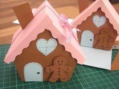 Cajas de regalo casitas pan de jengibre  -  DIY Gingerbread House Gift Boxes