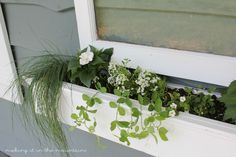 DIY Vintage Window Flower Box - http://akadesign.ca/diy-vintage-window-flower-box/