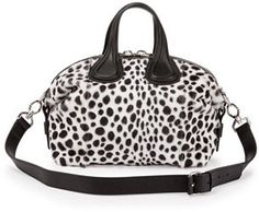 Givenchy Nightingale Small Dalmatian-Print Satchel Bag, Black ($3490) // as seen on Kylie Jenner in her Instagram Pic posted on August 27, 2016.