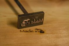 Custom branding irons for branding on wood by MakersMarkBranding