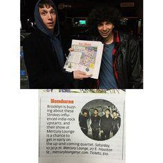 Thanks @NYPOST! Tonight we headline Mercury Lounge  doors at 10:30