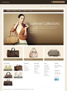 Website Template #webdesign #eshop