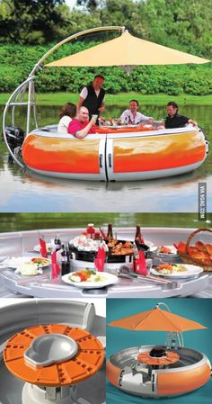 BBQ floatie For the lake house ; Lake Toys, Cool Pool Floats, Cool Inventions, Pool Spa, Outdoor Fun, Summer Fun, Swimming Pools, Cool Things To Buy, Amazing Things