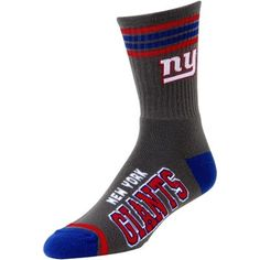 Women's New York Giants Royal Blue Vertical Stripe Socks