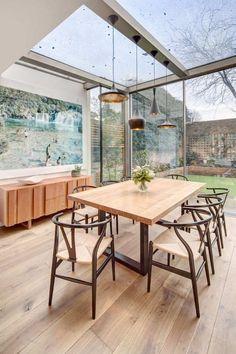Merveilleux Extension De Maison Avec Toit En Verre En 20 Idées Du0027aménagement Idees De Conception De Maison