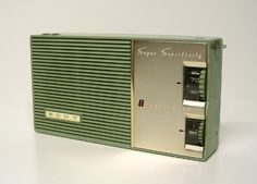 Transistor radio perfect for a vintage trailer representing the 60's