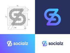 Logo concept for socialz by Vadim Carazan
