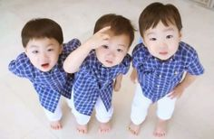 "Daehan, Minguk, Manse (cute triplets of Korea!) 😄 their show ""Return of Superman"" Song Il Gook, Triplet Babies, Superman Baby, Song Daehan, Song Triplets, Korean Variety Shows, My Bebe, Baby Songs, Korean Babies"