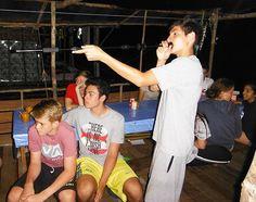 Blowgun target practice is one of the most popular evening activities.