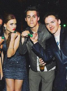 Holland Roden, Dylan O'Brien and Jeff Davis (Producer)