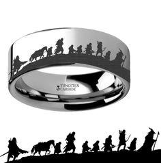Lord of the Rings Gandolf Tungsten Carbide Wedding Band