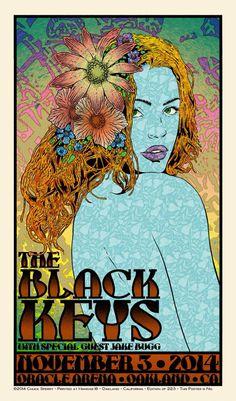 Black keys concert poster