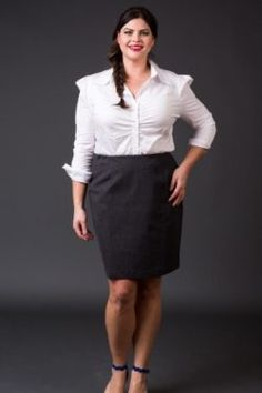 Ponte Pencil Skirt- Charcoal