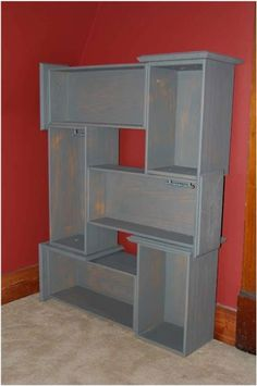Throwing away an old dresser? Keep the drawers and make a cool book shelf with them!