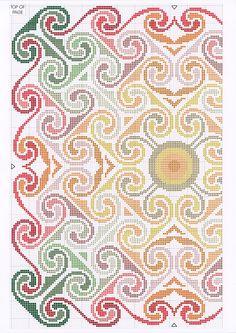 """Borduren: Kelim-Gobelin ~""""Spiral Sunset"""" 1/2~"""