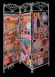 Easy And Cheap Useful Tips: Fabric Room Divider Sliding Doors room divider on wheels tapestries.Room Divider Design Small Studio room divider with tv tvs.Room Divider On Wheels Tapestries. Freeform Crochet, Crochet Art, Crochet Home, Irish Crochet, Crochet Patterns, Crochet Designs, Crochet Tunic, Crochet Dresses, Crochet Motif