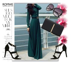 """ROMWE  1"" by melissa995 ❤ liked on Polyvore featuring Rika and WithChic"