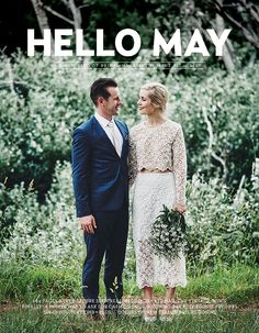 Issue 11 of Hello May magazine is now on sale and available for shipping for INTERNATIONAL orders only.We have worked hard with a talented bunch of cont. Bridal Outfits, Bridal Dresses, Vintage Weddingdress, Bhldn Wedding, Engagement Presents, Hello May, Bridal Separates, Book Design Layout, Wedding Book