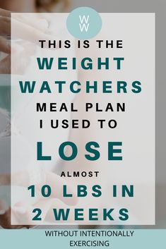 Need to lose weight? Here are all the meals I ate and how I lost almost 10 pounds in 2 weeks on Weight Watchers Freestyle without ever being hungry. Weight Watchers Tipps, Weight Watchers Meal Plans, Weigh Watchers, Weight Watchers Smart Points, Weight Watchers Diet, Weight Watcher Dinners, Weight Loss Meals, Fast Weight Loss, Fat Fast