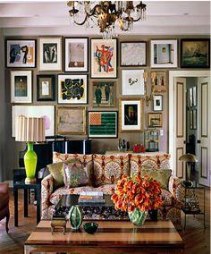 swedish living home design art frames | framed-art-home-gallery-walls-living-with-art-kristen-buckingham.jpg