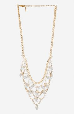Crystal Chandelier Necklace @ DailyLook.com