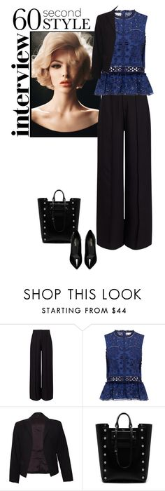 """""""60 Second-Style: Job Interview"""" by kays-fashion-escape ❤ liked on Polyvore featuring Miss Selfridge, Sea, New York, Theory, Mulberry, Yves Saint Laurent, contest, jobinterview and 60secondstyle"""