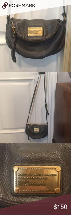 Marc by Marc Jacobs Purse Gray cross body bag - authentic Marc by Marc Jacobs, excellent condition Marc By Marc Jacobs Bags Satchels