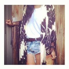 Kimonos + cutoffs.