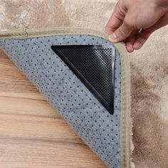 These reusable Self-Stick Rug Pads prevent rugs or carpets placed on hard floors and tiles from slipping or sliding and they also prevent bunching, curling and tripping. They're so EASY to use, just place one on each corner of your rug! Carpet Places, Ikea, Hard Floor, To Loose, Bathroom Rugs, Cool Stuff, Stuff To Buy, Rug Pads, Self