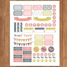 PET Printable Planner Stickers Erin Condren by PrintThemAllStudio