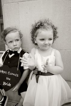 ring boy and flower girl ... cutest thing ever!