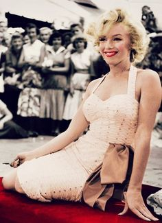 Marilyn Monroe at Grauman's Chinese Theater, June 26th 1953