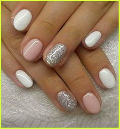 Glitter Gel Nails, Toe Nails, Pink Nails, Color Nails, Silver Glitter, Acrylic Nails, Sparkly Nails, Glitter Art, Coffin Nails