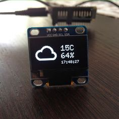 Since I learned how to create pictures and display them on these wonderful OLED displaysI wanted to build something useful with it. Once you know about all the pieces, putting them together is quite easy. The icon, temperature and humidity are updated every 10 minutes