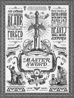 Legend of Zelda the Master Sword Vintage Art on Behance